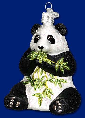 Old World Christmas® Panda Bear Ornament: NativitySetStore.com